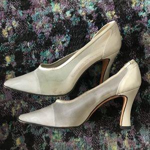 Martinez Valero Silver 90s Supermodel Heels Sz 7
